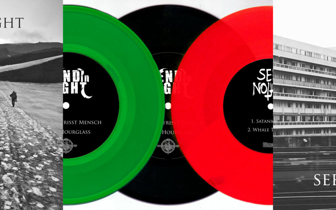 New Pre-Order online:    No End In Sight & Seek Nothing – Split 7″