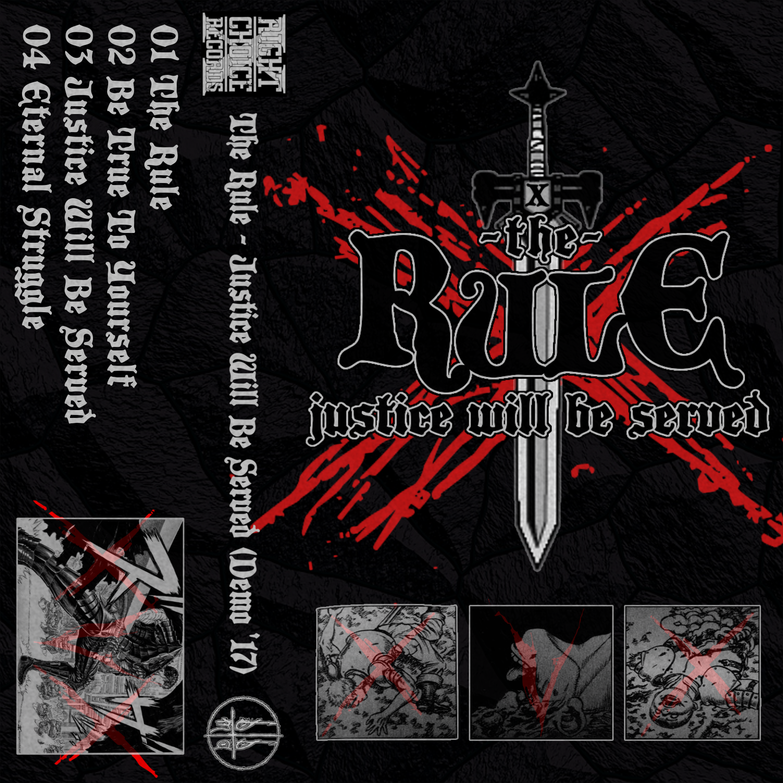 the rule tape layout front