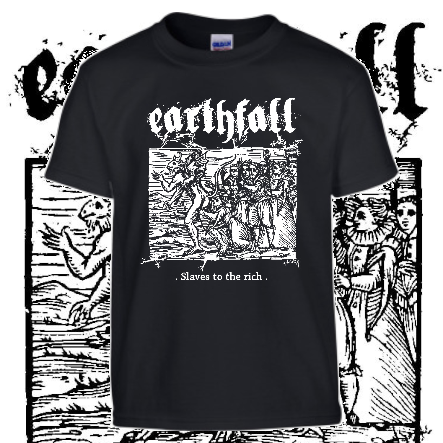 new earthfall shirt white on black